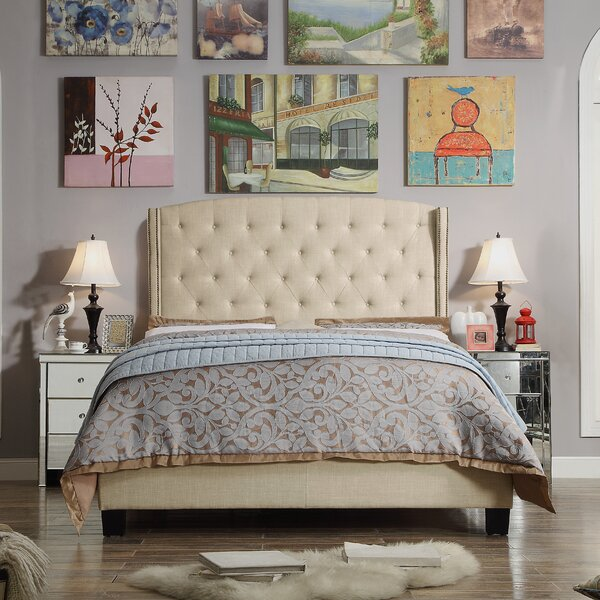 Destiny 100% Linen Upholstered Standard Bed by Willa Arlo Interiors